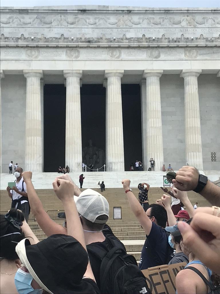 Rally at Lincoln Memorial